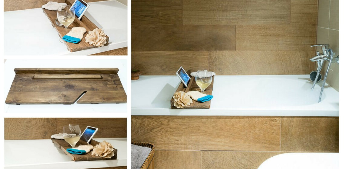 diy bath tray homemade present pallet project the handy mano manomano