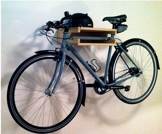 10 Interesting DIY Bike Storage Ideas bike rack indoor display stand hook cool shelf