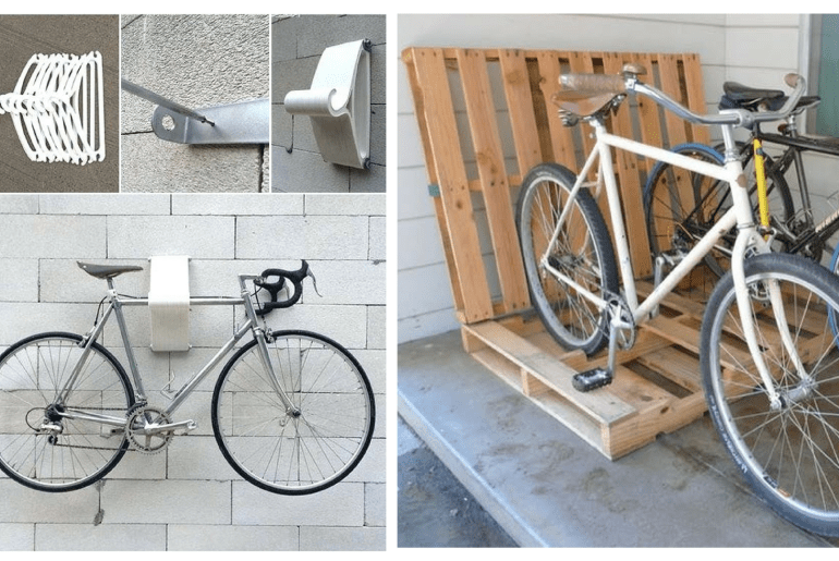 10 Interesting DIY Bike Storage Ideas bike rack indoor display stand hook cool repair floor work vertical stand up