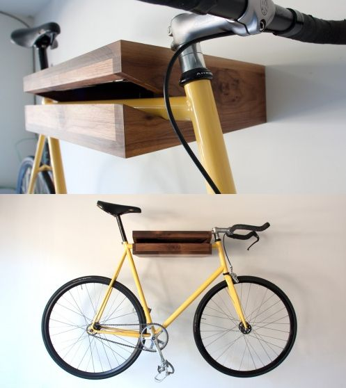 10 Interesting DIY Bike Storage Ideas bike rack indoor display stand hook cool