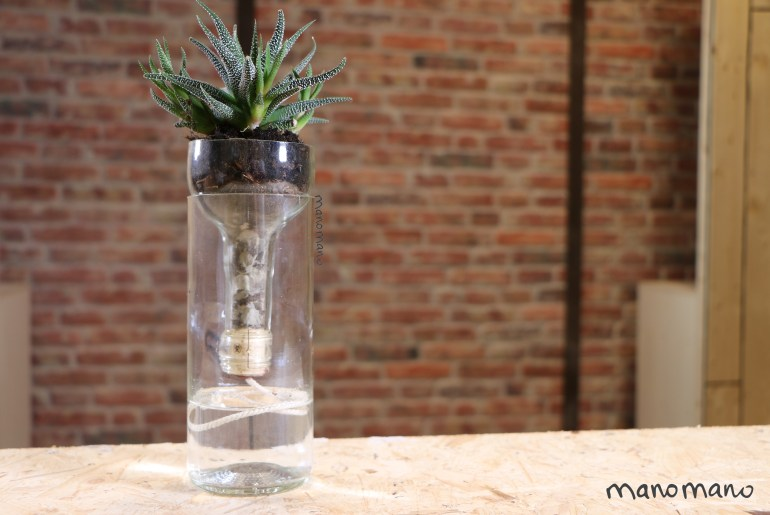 diy self watering planter plant planters self-watering wine bottle easy the handy mano manomano