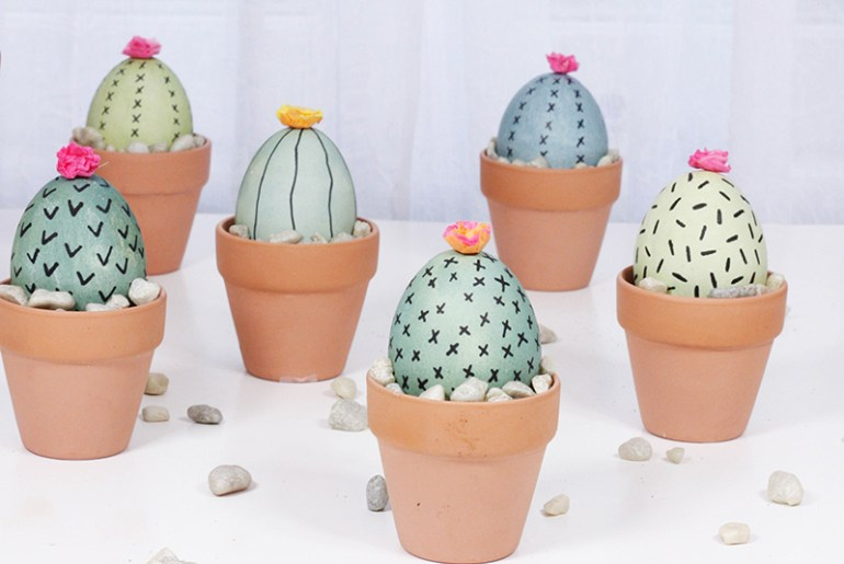 DIY Easter Decorations Cactus Eggs crafts creative hunt decor the handy mano manomano kids craft