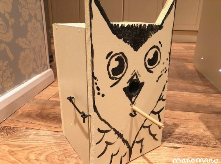 Craft Ideas for Kids bird box design ideas wooden bird box the handy mano manomano paint wood owl