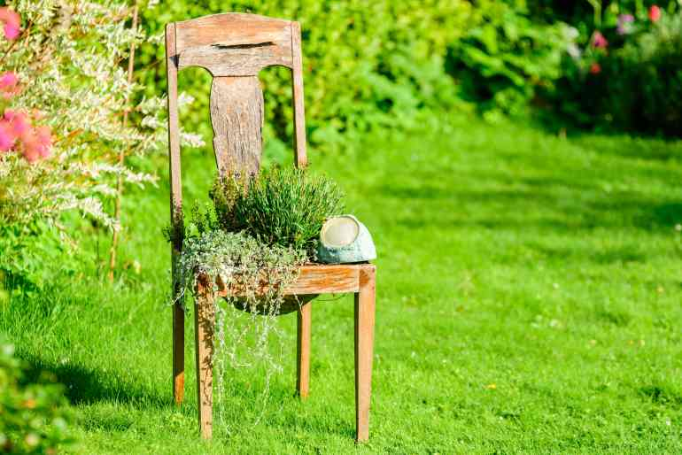 garden design spring garden planter ideas wooden planters the handy mano manomano chair plant pot flowers