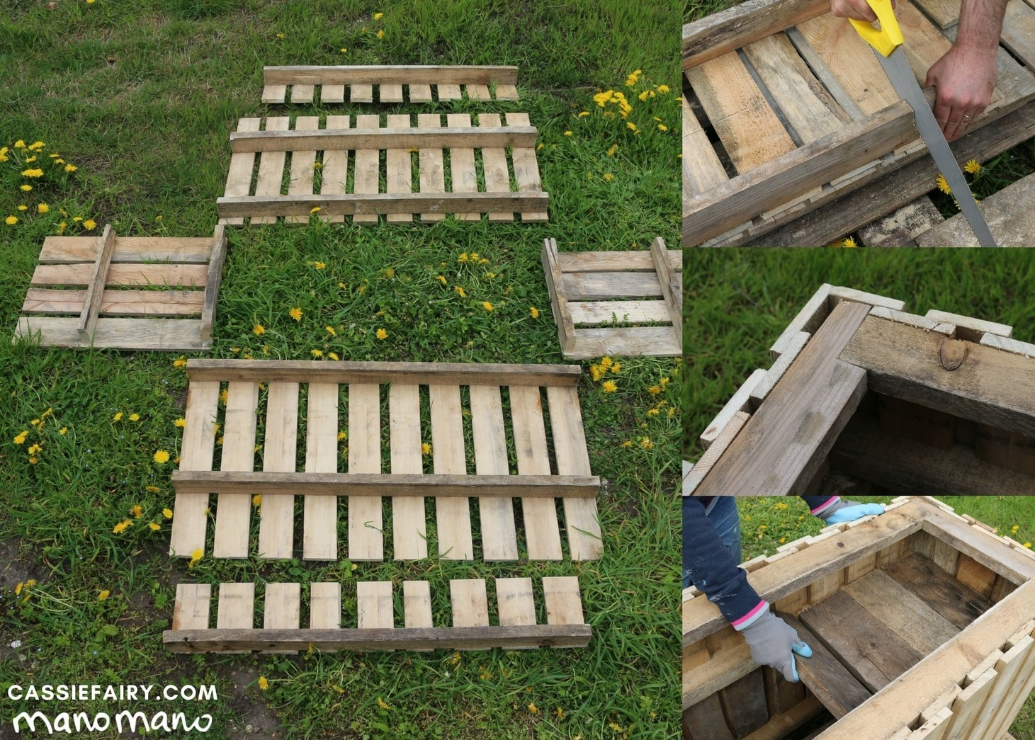 the handy mano manomano diy pallet planter assemble