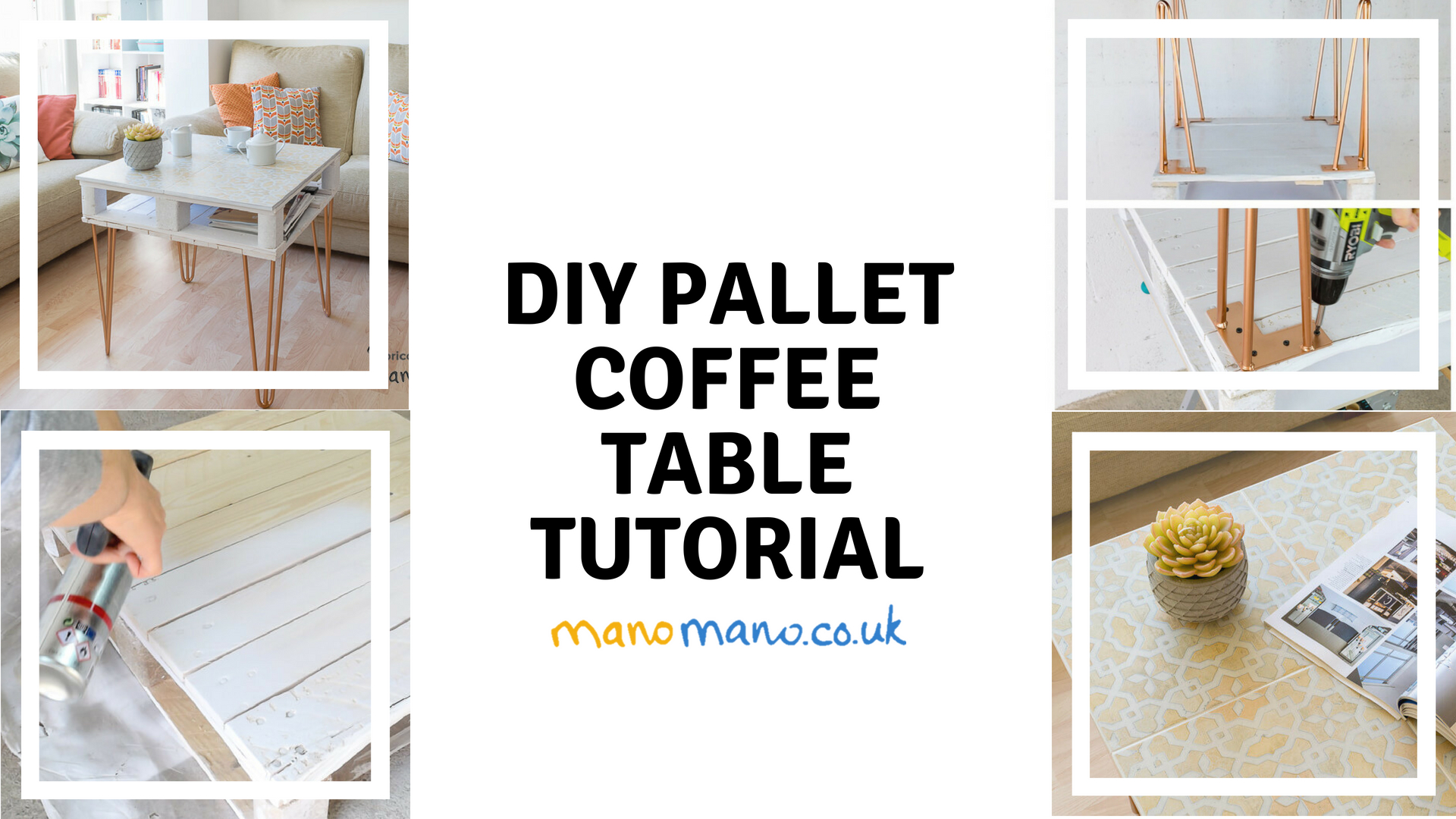 thehandymano mano mano diy pallet coffee table tutorial