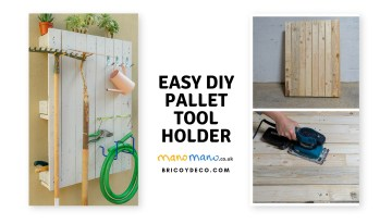 Easy Pallet Projects : DIY Outdoor Tool Storage