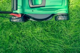 thehandymano mano lawn mowing tips lawn mower on grass