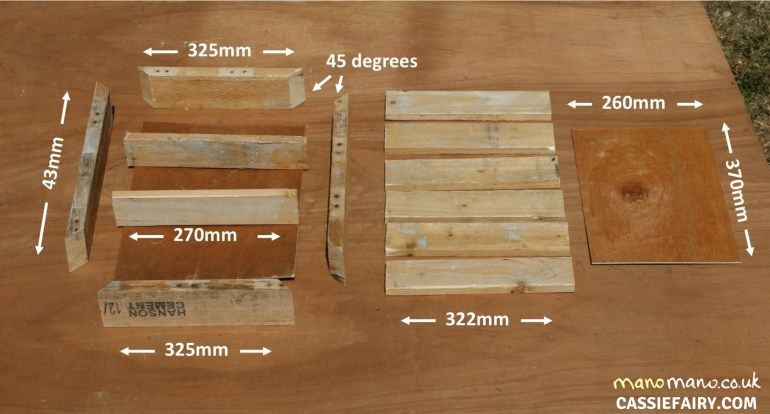 Pallet Cabinet DIY Tutorial thehandymano mano mano measurements