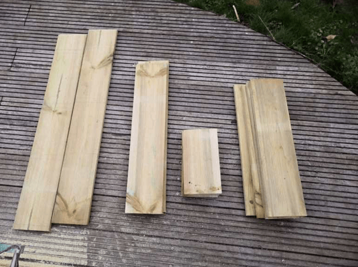 Cutting the planks