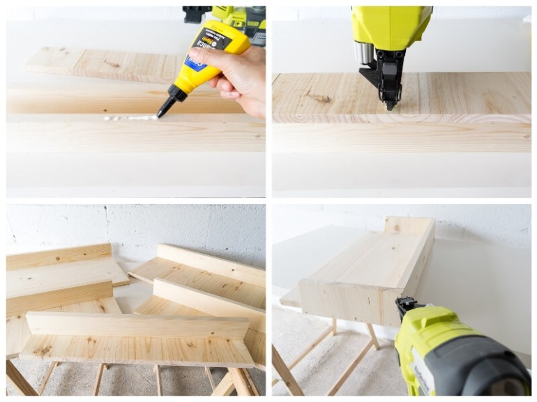 diy ladder shelf storage blanket shelf the handy mano manomano mano thehandymano do it yourself  glue gluing wood