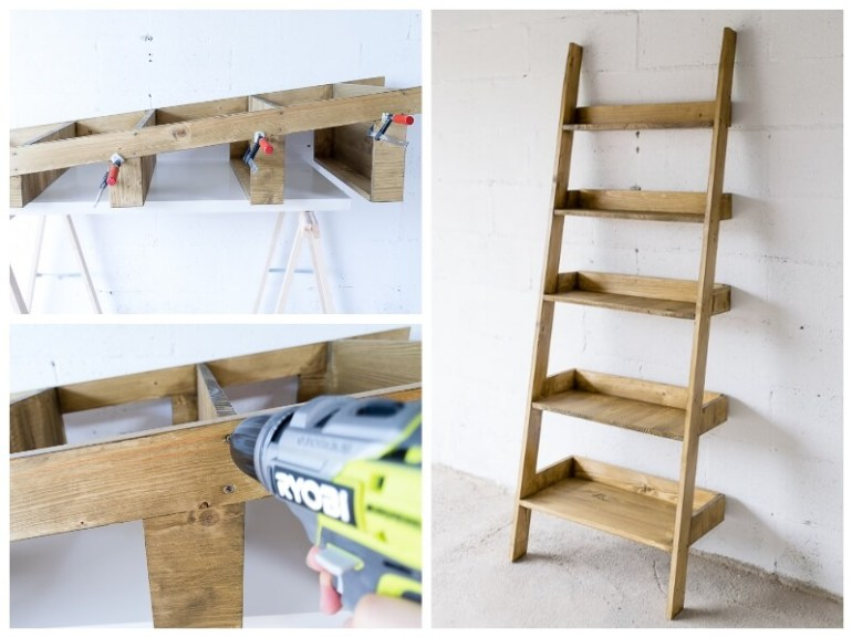 estanteria escalera DIY