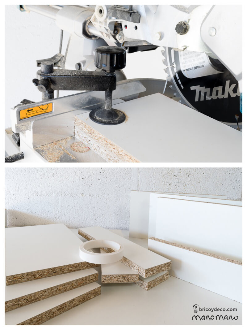How To Make Intertwining Box Shelves thehandymano handy mano manomano crossover patterned tools materials CUTTING CLAMP SAW