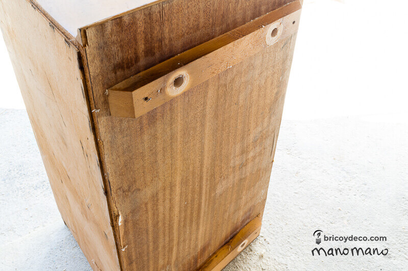 diy play kitchen kids playroom upcycle do it youself handy mano manomano before old furniture