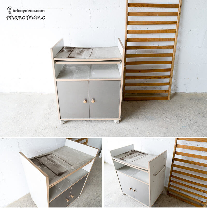 DIY Kids Play Furniture - Miniature Work Bench children childrens play area upcycle transformation