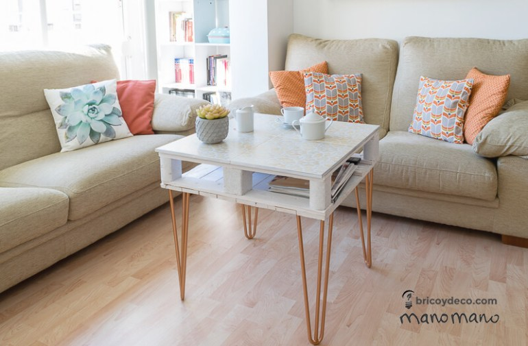 thehandymano mano mano pallet coffee table done