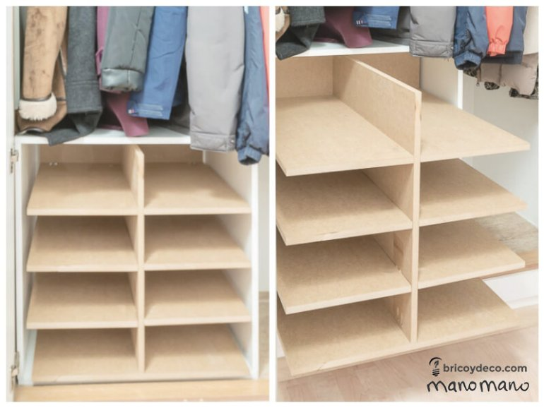 thehandymano mano mano DIY Shoe Storage for your wardrobe finished