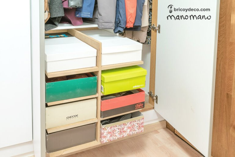 thehandymano mano mano DIY Shoe Storage for your wardrobe finished boxes
