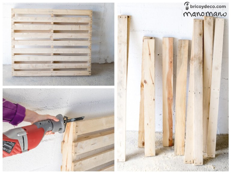 DIY Pallet Table the handy mano mano tutorial cut pallet