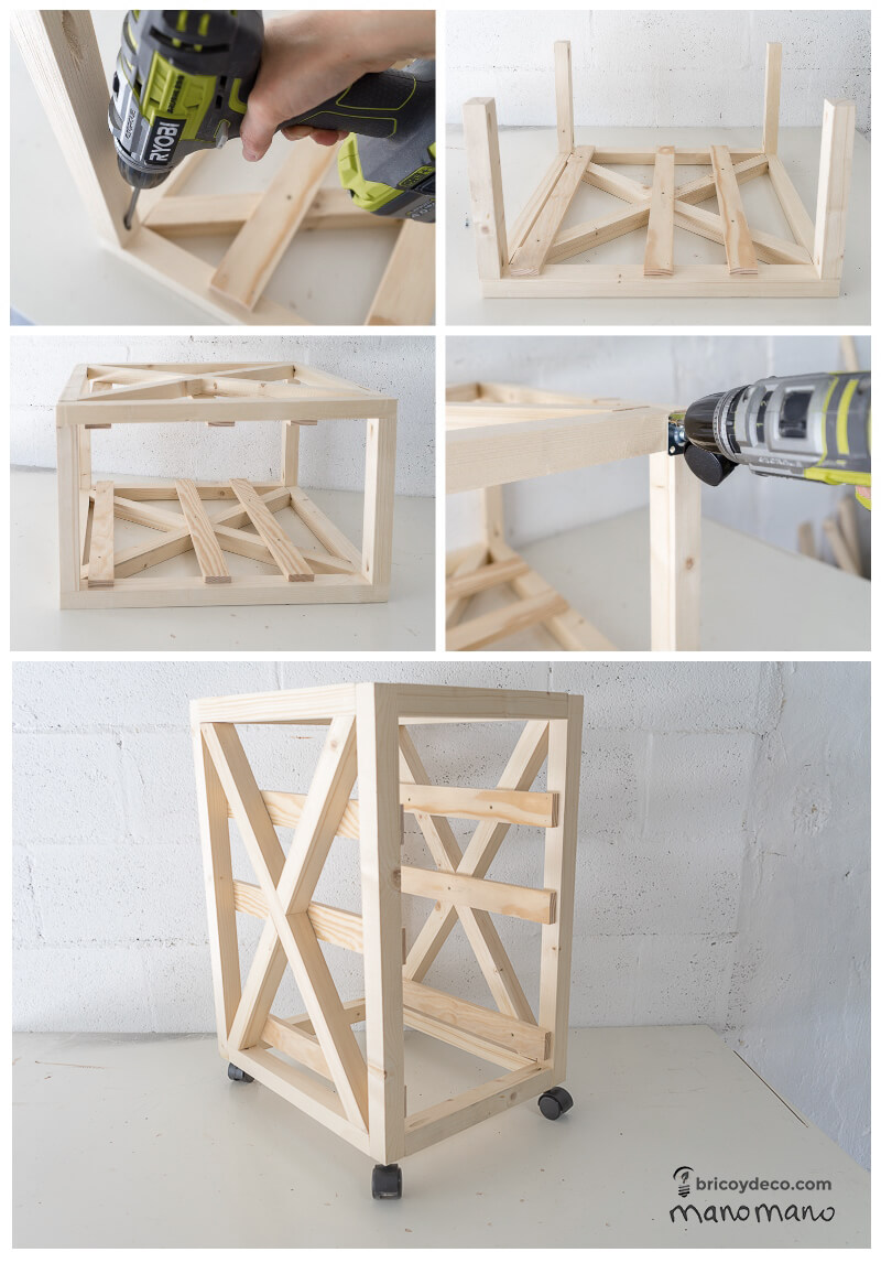 thehandymano mano mano tutorial diy how to make pallet trolley put together
