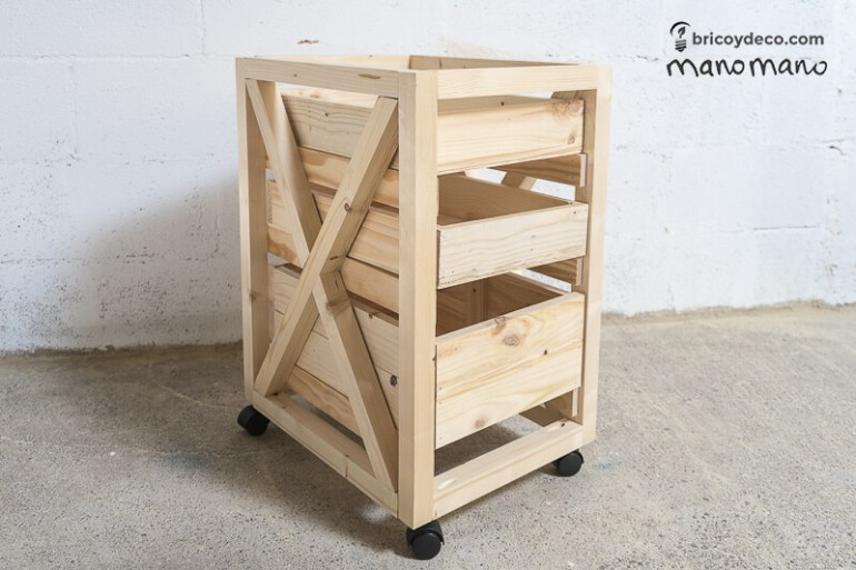 thehandymano mano mano tutorial diy how to make pallet trolley completed