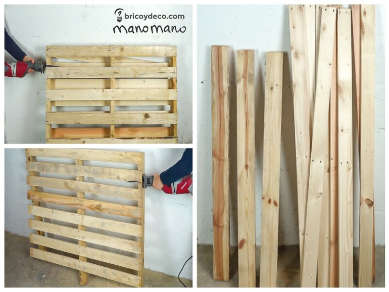 thehandymano mano DIY pallet sofa tutorial dismantle wood