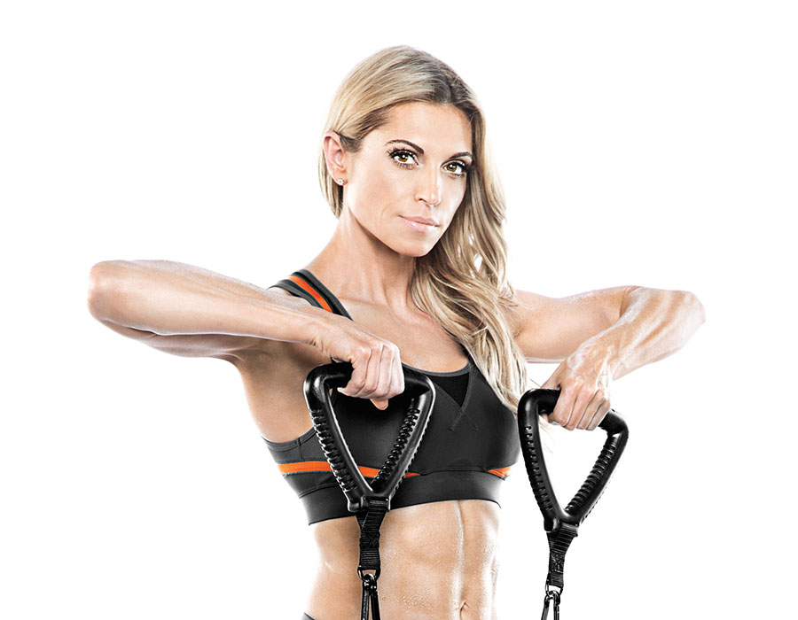 Resistance bands exercise fitness training kim lyons bionic body BBRT-0020