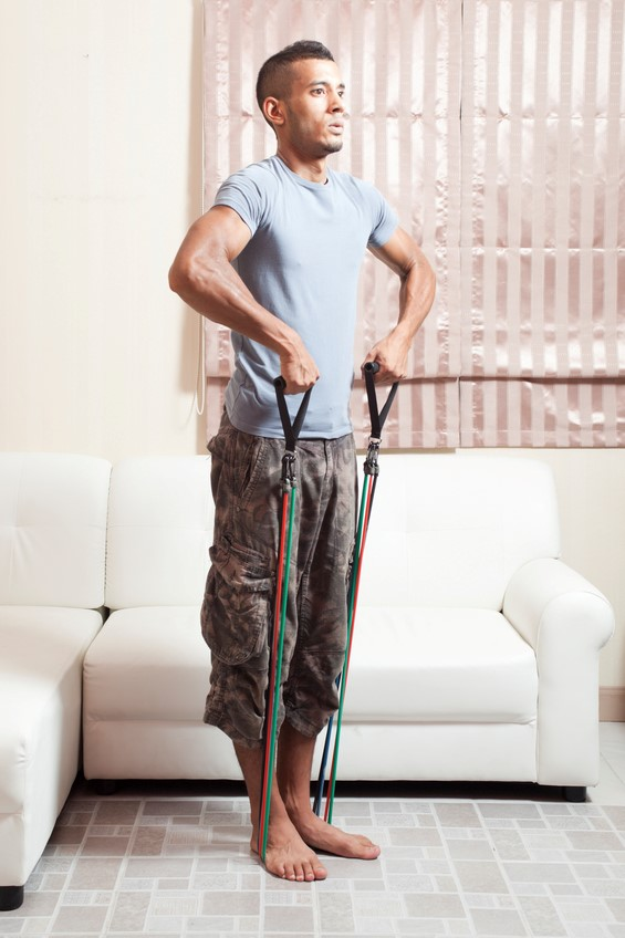 upright-rows-living-room-resistance-bands