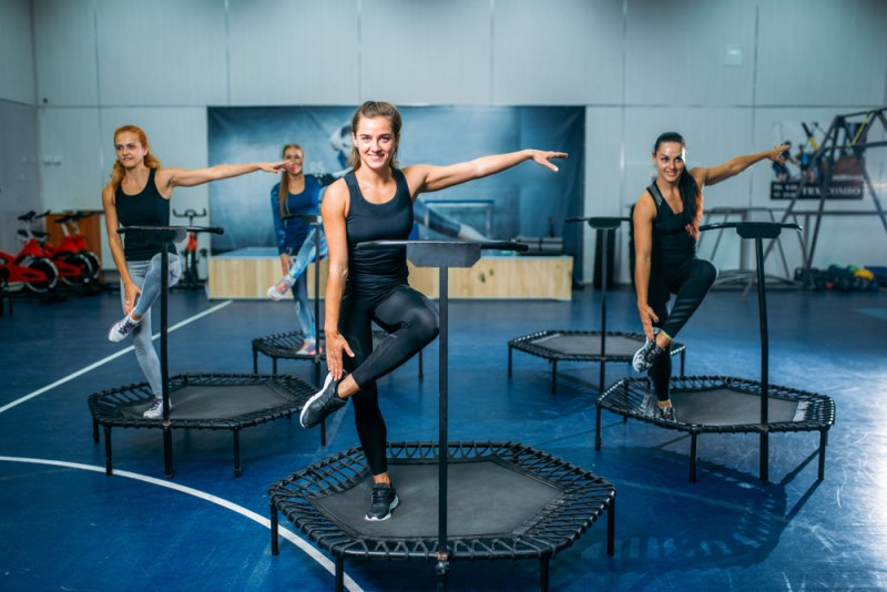 trampoline exercise - full body workout