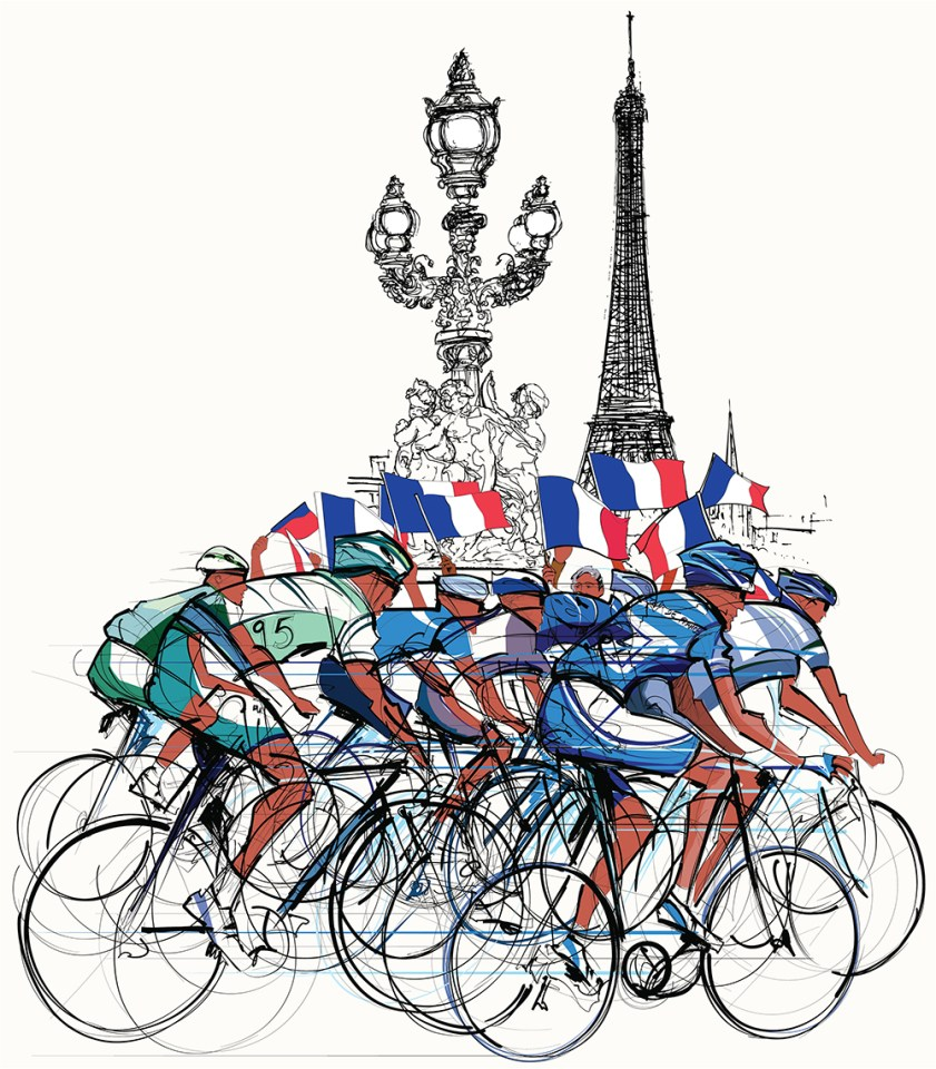 Tour-De-France-2019-Race-Training-and-Where-to-Watch-Live-eiffel-tower