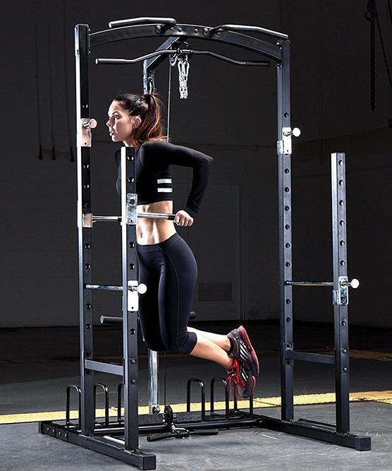MWM-7041 Power Cage Home Gym Squat Rack System - Dip Bars