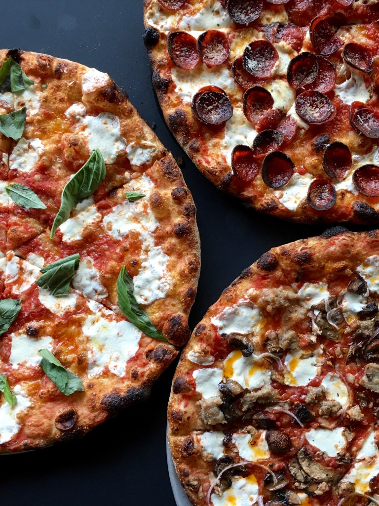Three pizzas from Beebe's, LIC