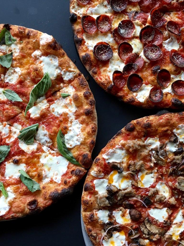 Three pizzas from Beebe's, LIC
