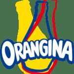 Le logo Orangina, une bouteille secouée