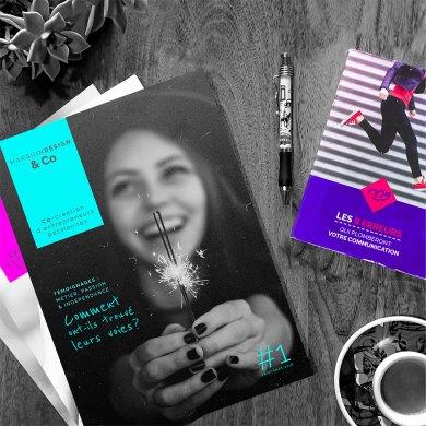 ebook et webzine sur une table