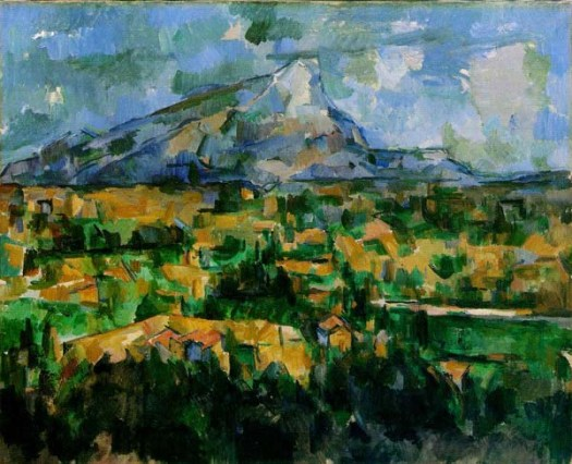 Painting by Cezanne Mount Saint-Victoire 1902-1904