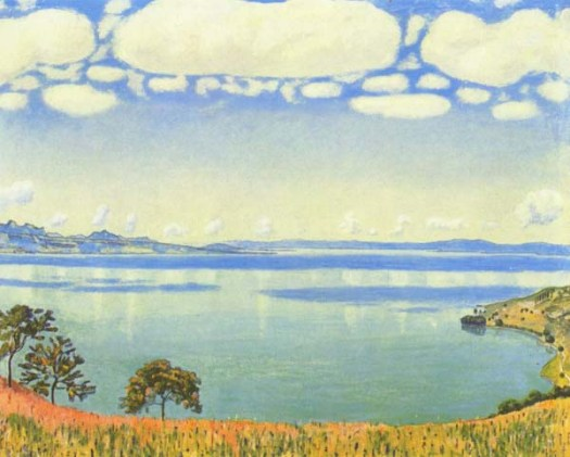 Painting by Ferdinand Hodler Lake Geneva as seen from Chexbres, oil on canvas 1905