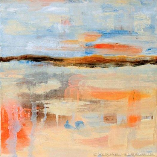 """Burning Ice"" Oil on Canvas 10"" x 10"" © 2006 Marilyn Fenn"