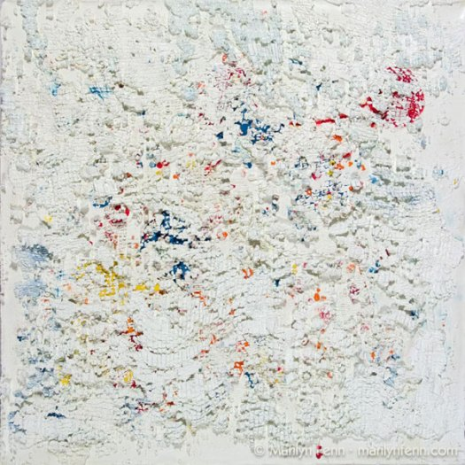 """Confetti"" Encaustic on Panel 10"" x 10"" © 2009 Marilyn Fenn"
