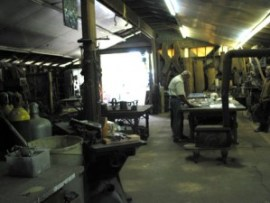 Philippe Klinefelter's studio at the Ginko studio compound.