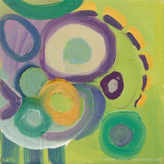 """Beast of Burden"" Oil on canvas 6"" x 6"" © 2011 Marilyn Fenn"