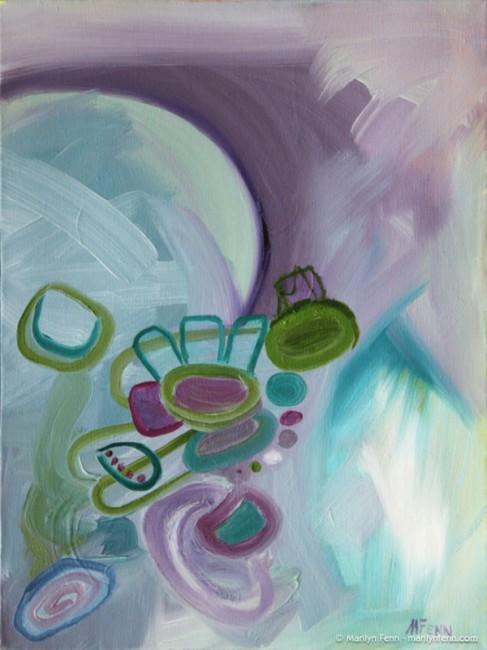 """In Flight"" Oil on canvas 16″ x 12″ © 2012 Marilyn Fenn"