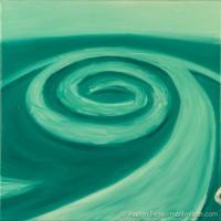 Spiral Jetty - Oil on canvas - by Marilyn Fenn