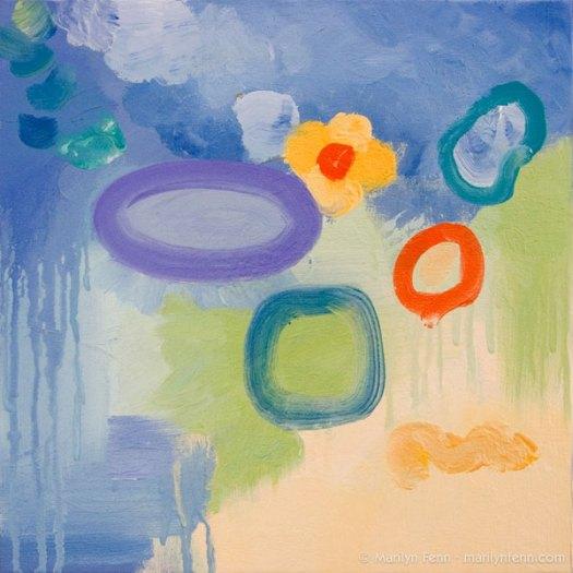 """""""Trial Separation"""" Oil on canvas 12"""" x 12"""" © 2011 Marilyn Fenn"""