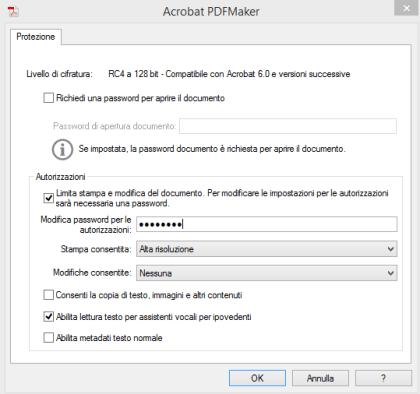 creare un PDF non modificabile