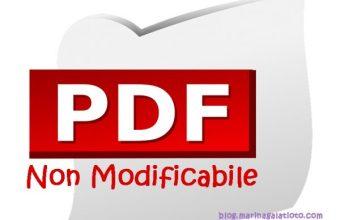 Come Creare un PDF non modificabile