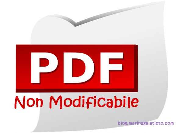 PDF non modificabile