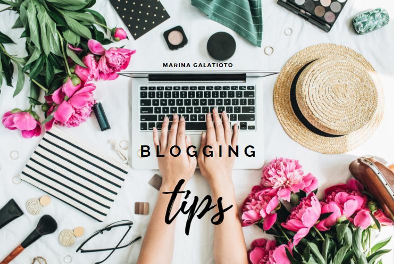 blogging tips Marina Galatioto