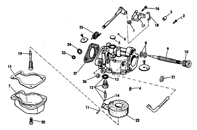 Carburetor_Single_Slow_Speed_Needle_Valve