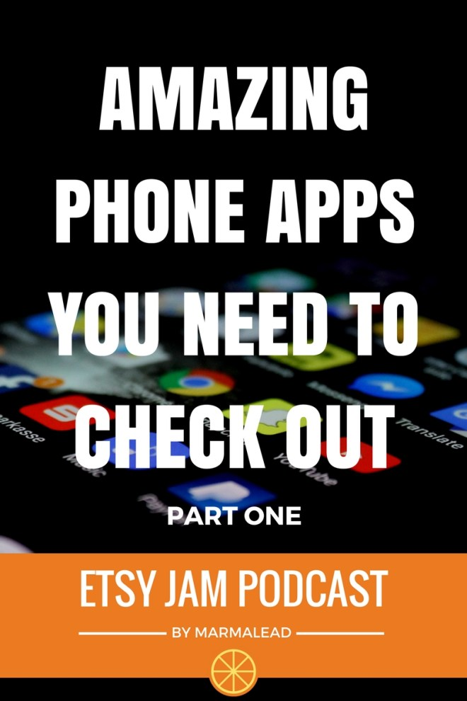 This episode is part 1 of a 2 part series about the apps Richie and I love most on our phones. We cover a wide range of solutions from todo lists to photography and videography to relaxation and games. Stay tuned for this episode of Etsy Jam and find out about some killer apps you may not know about yet.